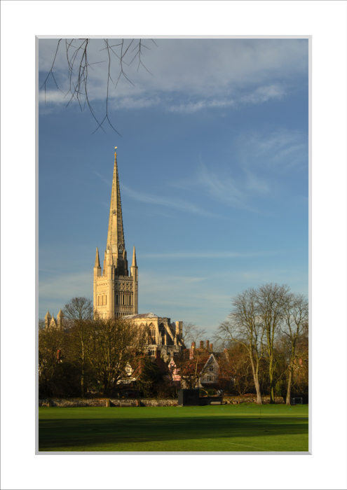 Mounted Print of Norwich Cathedral