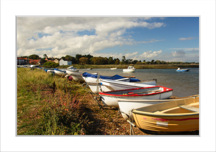 Mounted Print of Brancaster Staithe Harbour