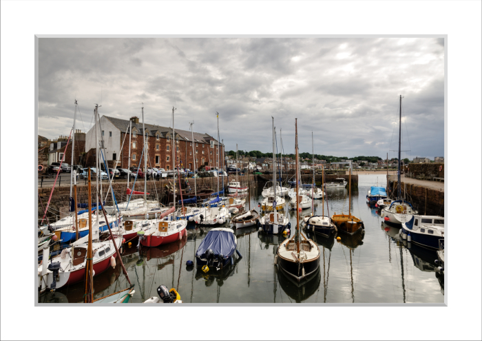 Mounted Print of North Berwick Harbour