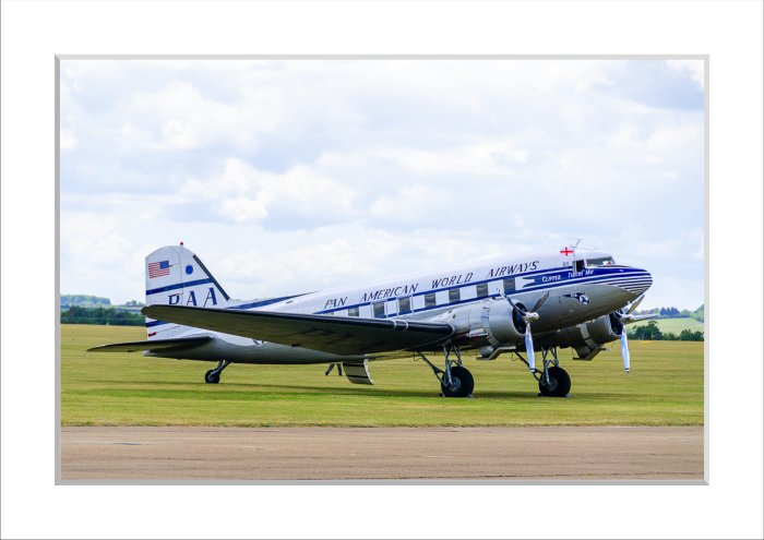 Mounted Print of DC-3 - Tabitha May
