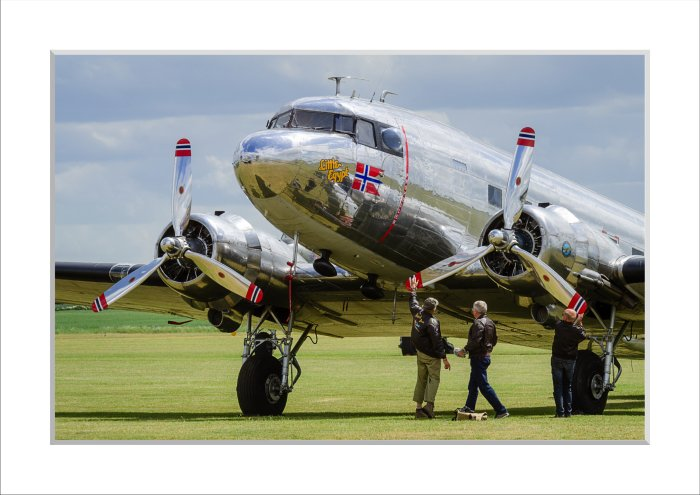 Mounted Print of DC-3A - Little Egypt